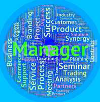 Manager Word Means Managers Administrator And Employer