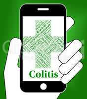 Colitis Illness Indicates Inflammatory Bowel Disease And Afflict