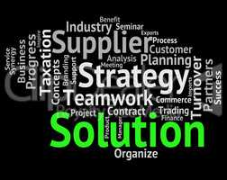 Solution Word Shows Success Resolve And Succeed