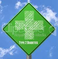 Diabetes Sign Means Poor Health And Two