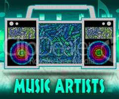 Music Artists Represents Sound Track And Audio