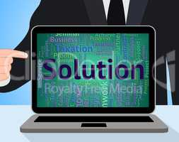 Solution Word Indicates Solving Solutions And Achievement