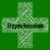 Hypertension Word Shows High Blood Pressure And Htn