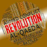 Revolution Word Represents Regime Change And Defiance