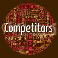 Competitors Word Means Text Wordclouds And Words