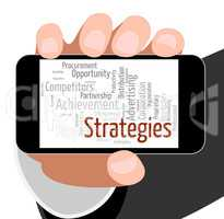 Strategies Word Means Business Strategy And Plan