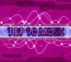Music Charts Shows Sound Tracks And Harmony