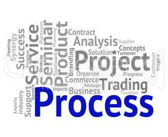 Process Word Indicates Procedure Wordcloud And Processing