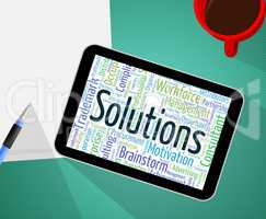 Solutions Word Represents Solve Wordcloud And Resolve