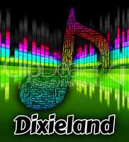 Dixieland Music Indicates New Orleans Jazz And Audio