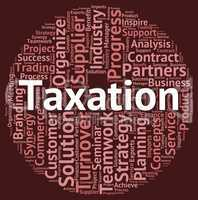 Taxation Word Means Levies Text And Words