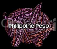 Philippine Peso Means Worldwide Trading And Banknote