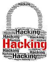 Hacking Lock Represents Vulnerable Wordcloud And Crack
