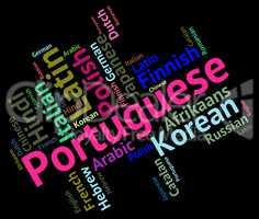 Portuguese Language Represents Speech Translate And Vocabulary