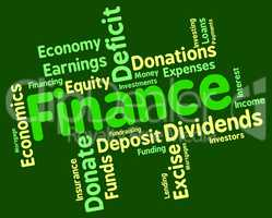 Finance Word Shows Trading Investment And Accounting