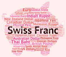 Swiss Franc Indicates Forex Trading And Currencies
