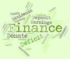 Finance Word Represents Financial Trading And Commerce