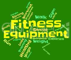 Fitness Equipment Indicates Physical Activity And Athletic