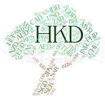 Hkd Currency Means Hong Kong Dollar And Broker