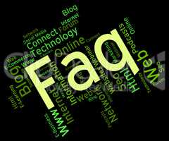 Faq Word Represents Frequently Asked Questions And Answer