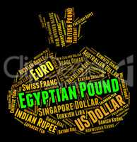 Egyptian Pound Indicates Foreign Exchange And Coin