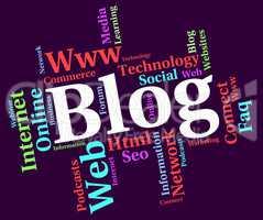 Blog Word Shows Weblog Websites And Words