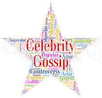 Celebrity Gossip Means Chat Room And Fame