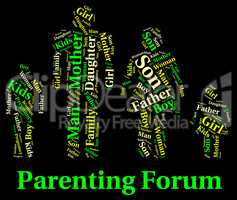 Parenting Forum Means Mother And Baby And Child