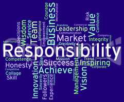 Responsibility Words Means Duty Responsibilities And Text