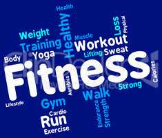 Fitness Words Represents Physical Activity And Aerobic