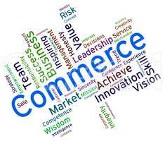 Commerce Words Shows Ecommerce Importing And Purchase