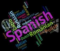 Spanish Language Shows Vocabulary Translator And Wordcloud