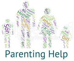 Parenting Help Represents Mother And Child And Advice