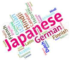 Japanese Language Means Words Foreign And Translator