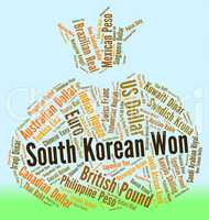 South Korean Won Means Foreign Exchange And Coinage
