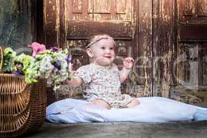 Beautiful Smiling Baby Girl.