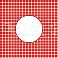 Tischdeckenmuster rot weiß mit Kreis