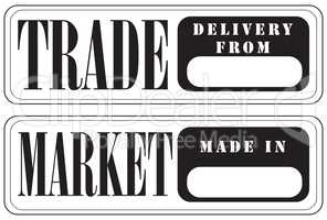 Stamp prints for trade and market