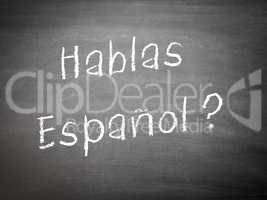 Learning language concept Spanish