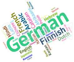 German Language Shows Germany Communication And Words