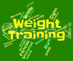 Weight Training Means Fitness Center And Dumbbell