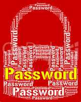 Password Lock Means Log Ins And Access