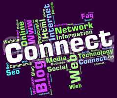 Connect Word Represents Global Communications And Computing