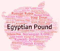 Egyptian Pound Represents Worldwide Trading And Banknotes