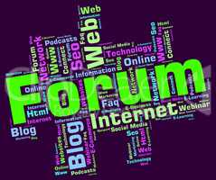 Forum Word Means Social Media And Chat