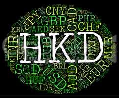 Hkd Currency Indicates Hong Kong Dollar And Coinage