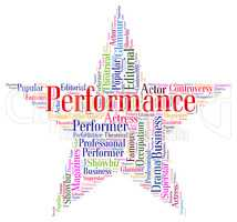 Performance Star Means Theatrical Theaters And Entertainment