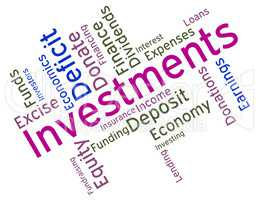 Investments Word Indicates Roi Stock And Wordcloud