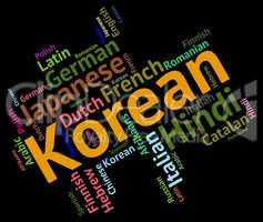 Korean Language Represents Wordcloud Languages And Word