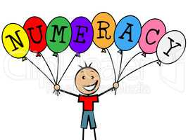 Numeracy Balloons Represents Youths Son And Numerical